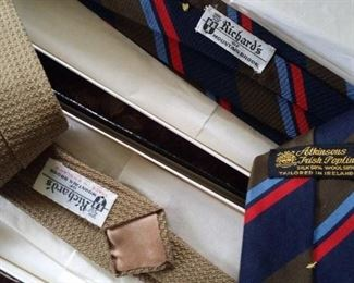 Ties from Richard of Mountain Brook,  new in box from 50 years ago