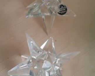 Crystal star candle holders