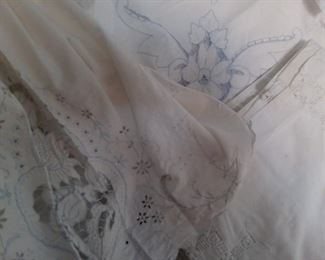 Fine table linens. Assorted conditions, and sizes