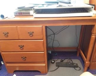 Good sturdy wood desk. Part of boys bedroom set.