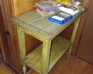 Various wood side tables,  in assorted sizes. Most priced $15