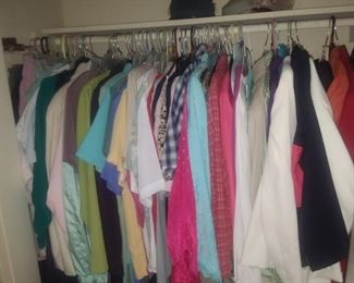 Ladies clothes in various styles and sizes, priced to clear!