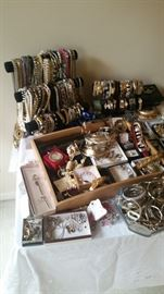 Ladies costume jewelry, very extensive collection!  Necklaces, bracelets, watches, rings