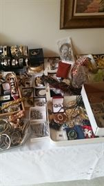 Ladies bracelets, watches, jewelry sets