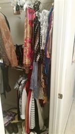 Closet 2 - ladies scarves, belts, purses, houseshoes, & totes