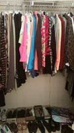 Closet 2 - ladies skirts, jackets, more shoes, & sweaters