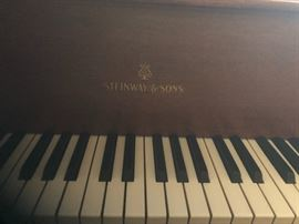 Steinway & Sons Baby Grand Piano. Model S-155  Built in Hamburg, Germany in 1950 and shipped to Dallas.