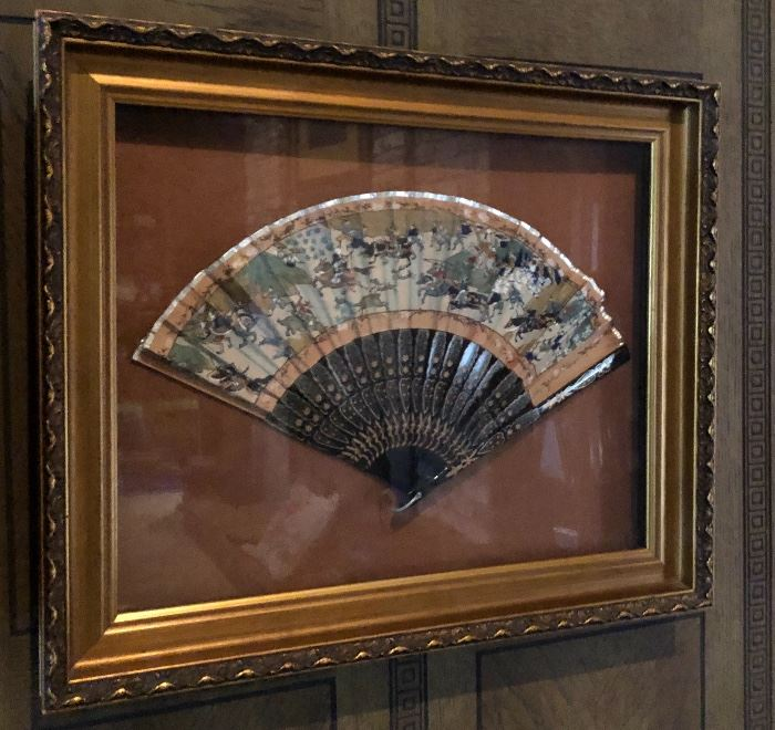 Framed Japanese Fan
