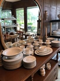 China Service for 12 with Serving Dishes