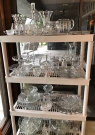 All clear glass or crystal $5.00 each.  If you know your crystal you'll win big!!