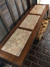 Vintage Marble Top Coffee Table with Matching End Table
