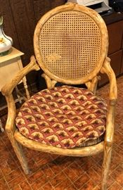 Awesome Carved White Oak Chair.