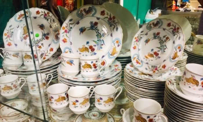 "Large set of Havilland Limoges ""Golden Quail"" China"