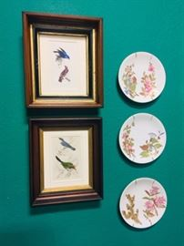 Royal Worcester Plates and Antique Engravings