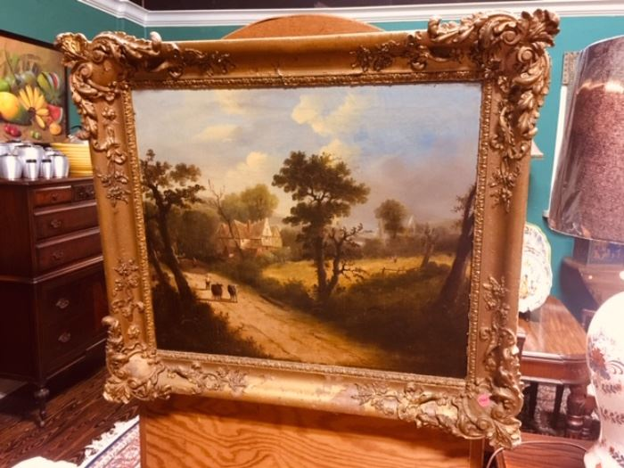 Antique Oil Painting in Period Frame