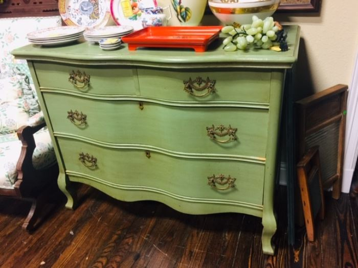Painted Antique Chest