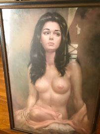Larry Vincent Garrison framed print 1974. Bow Chicka Bow Bow Bow