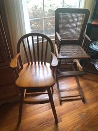old timey high chairs