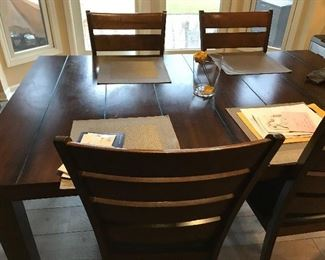 Wood Dining Table & Chairs