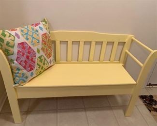 Yellow Wood Bench