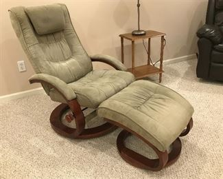 Microsuede Chair with Ottoman