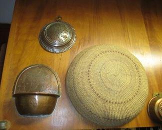 Native American basket Copper art