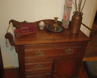 Dry Sink, brass candlestick