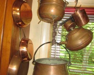 Coppper pots and pans