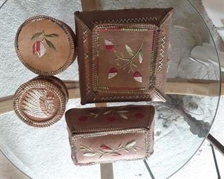 Native American porcupine baskets