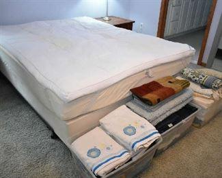 POSTUREPEDIC BED, LINENS