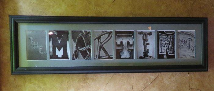 """Best Gift Idea Ever """"Martin"""" letter art"""