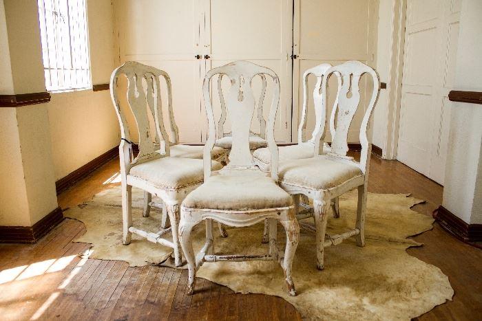 Gustavian chairs 6 piece set