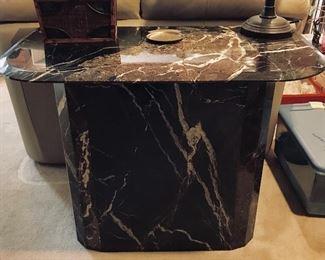 Marble table, sofa table, black table