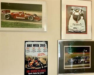 Autographed Indy car photos