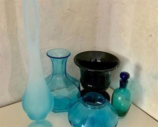 Art glass, blue glass