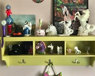 Horse figures, unicorns