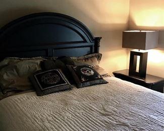 Black wooden bedroom furniture, black dresser