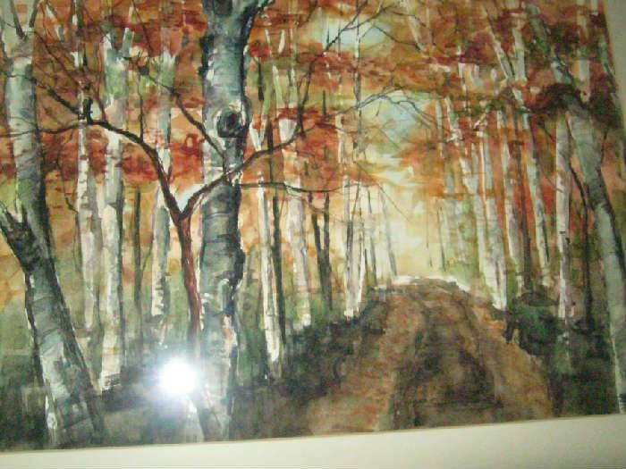 Painting of forest - think it is a water color