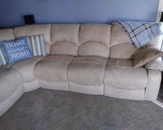 Beautiful leather sectional