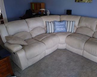 Another picture of a beautiful seude  sectional