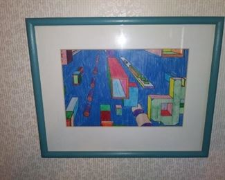 Framed and matted art