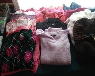 Assorted women's sweaters