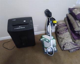 Paper shredder and rug shampooer