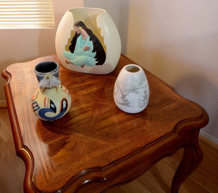 Southwest ceramic decor pieces throughout the home.