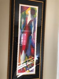 Framed lithograph - set of 3 available