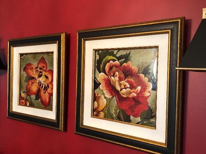 Set of framed prints by Ethan  Allen