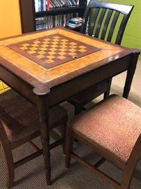 Game table with chairs by Ethan Allen