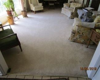 CARPETING FOR SALE (IT HAS SINCE BEEN ROLLED UP) - USED VERY LITTLE AND LIGHT FOOT TRAFFIC