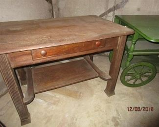 OLD LIBRARY TABLE