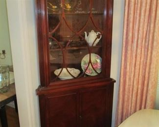 ANTIQUE CORNER CURIO CABINET
